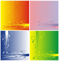 Four variants of a background Stock Image