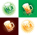 Four variation of beer tankards Royalty Free Stock Photo