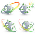 Four vector environmental simbols Royalty Free Stock Photo