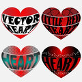 Four Vector Hearts Royalty Free Stock Photo