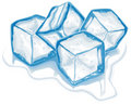 Four vector ice cubes Royalty Free Stock Images