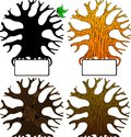Four_vector_tree 库存图片