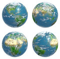 Four views of Earth Stock Photos