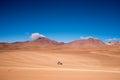 Four wheel drive (4WD) driving across the San Pedro de Atacama desert Royalty Free Stock Photo