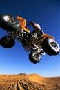 Four Wheeler Jumping Royalty Free Stock Photo