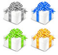 Four white boxes Royalty Free Stock Images