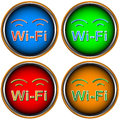 Four Wi-Fi icons Stock Images