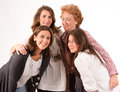 Four women isolated image of of different generations Stock Image