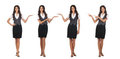 Four young Caucasian businesswomen in clothes Royalty Free Stock Photo
