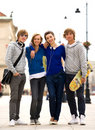 Four Young Teenagers Royalty Free Stock Photography