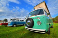 Fourgon classique de camping de transporteur de vw Photo stock