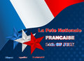 Fourteenth July National Celebration of France, background Royalty Free Stock Photo