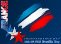 Fourteenth July National Celebration of France, Bastille Day, background Royalty Free Stock Photo
