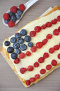 Fourth of july cake independance with fresh berries Stock Images
