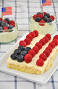 Fourth of july cake independance with fresh berries Royalty Free Stock Photography