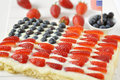 Fourth of july cake independance with fresh berries Stock Photos