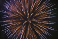Fourth of July celebration with fireworks exploding, Independence Day, Ojai, California Royalty Free Stock Photo