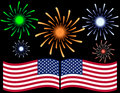 Fourth of July Fireworks Background Royalty Free Stock Image