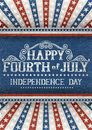 Fourth of july greeting card for holiday eps contains transparency Stock Images
