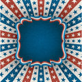 Fourth of july greeting card for holiday eps contains transparency Royalty Free Stock Image