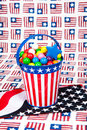 Fourth of July Gumballs Royalty Free Stock Photo