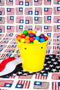 Fourth of July Gumballs Royalty Free Stock Photos