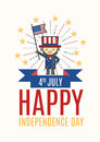 Fourth of July Happy Independence day greeting card, poster or f