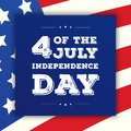Fourth of july independence day greeting card on american flag background Royalty Free Stock Photo