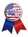 Fourth of july independence day ribbon illustration design Stock Photography