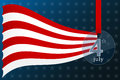 Fourth of july independence day of the usa banner