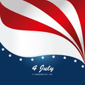 Fourth july over flag background vector illustration Royalty Free Stock Images