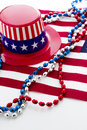 Fourth of july patriotic items to celebrate th Royalty Free Stock Images
