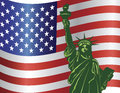 Fourth of July Statue of Liberty Royalty Free Stock Photography