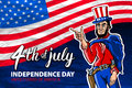 Fourth of July USA Independence Day greeting card. 4 th of July. United States of America celebration wallpaper. national holiday