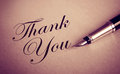 Foutain Pen and Thank You message Royalty Free Stock Photo