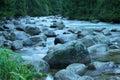 Tečúca voda v horskom potoku