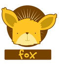 Fox birthday card with illustration cute vector illustration design Stock Photos