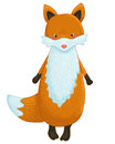 Fox cartoon character funny isolated Stock Image