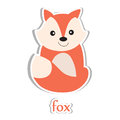 Fox cartoon isolated on white education design vector illustration Royalty Free Stock Photo
