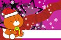 Fox cute cartoon xmas claus costume background Royalty Free Stock Photo