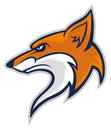 Fox head mascot Royalty Free Stock Photo