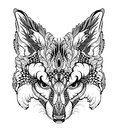 FOX Head Tattoo. Psychedelic /...