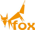 Fox logotype Stock Images