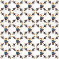 Fox pattern in applique style.