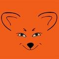 Fox red head animal Sly eyes. Royalty Free Stock Photo
