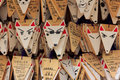 Fox shaped praying cards at fushimi inari shrine in kyoto japan june on june japan is one of the most Royalty Free Stock Photos