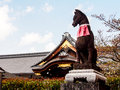 Fox statue at the fushimi inari shrine kyoto japan Royalty Free Stock Photos