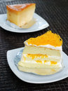 Foy thong close up cream cake fusion food Royalty Free Stock Photography