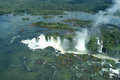 Foz do iguacú waterfalls devil s throat falls at iguazu falls argentina photo from helicopter Stock Image