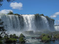 Foz do iguassu argentina brazil the large water falls in the park in the middle of the tropical forest iguacu parana Stock Photos